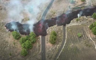 Los drones se convierten en imprescindibles en la erupción del volcán de La Palma
